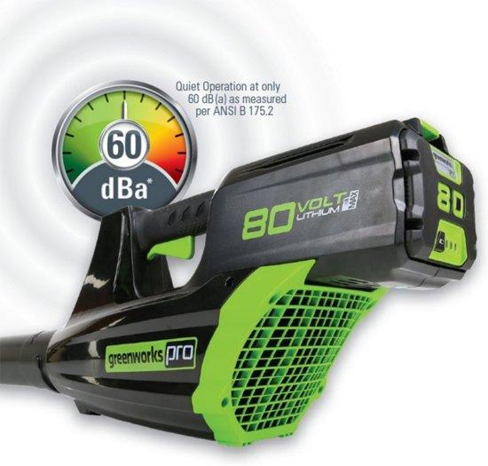 Greenworks GD80BL Accu bladblazer | Snoerloze Bladruimer | Zonder Accu + Lader