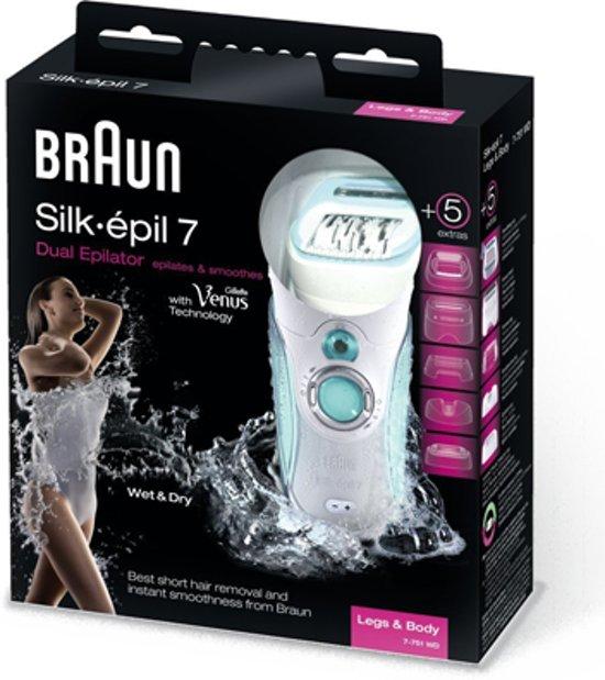 Braun Silkepil 7 7751 Dual inclusief reinigende gezichtsborstel