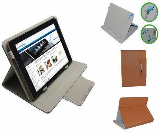 Woxter Zielo Tab 80 Diamond Class Cover, Luxe Multistand Hoes, Bruin, merk i12Cover