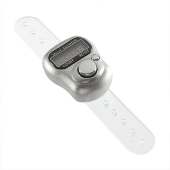 Bolcom Zilveren Digitale Vinger Haak En Brei Toerenteller Nbh