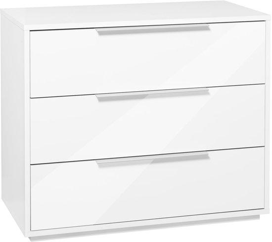 ... Furniture Pipari - Ladekast 3 laden - Wit / hoogglans wit  Wonen