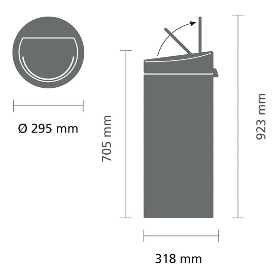 Brabantia Touch Bin 30 Liter Matt Steel
