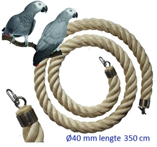 Jungle sisal touw  Ø 40 mm & 350 cm lang (vogel touw )