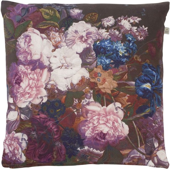 Dutch Decor Riseco - Sierkussen - 45x45 cm - pruim