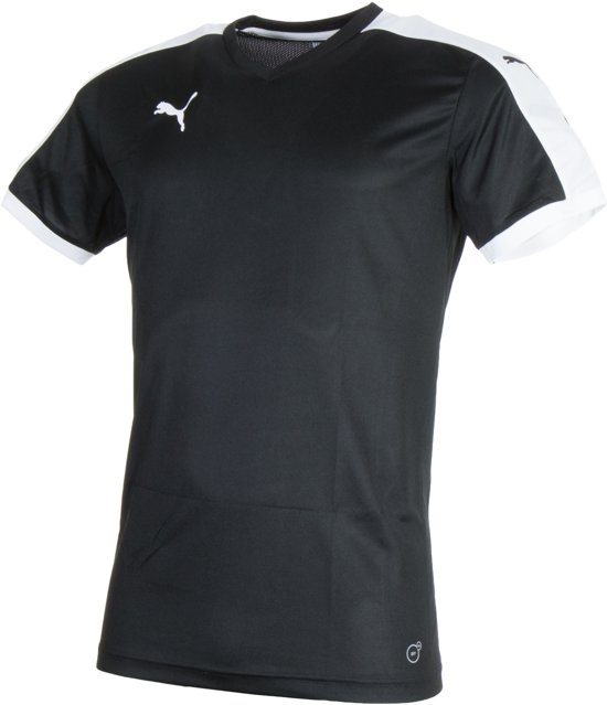 f9f3e74a236 Puma Pitch Shortsleeved Shirt Heren Sportshirt - Maat XL - Unisex -  zwart/wit