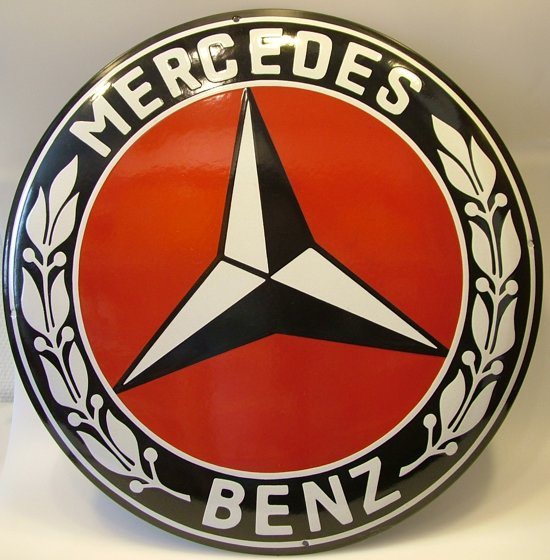 Bol Com Mercedes Rood Reclame Bord Emaille Groot Rond Reclamebord