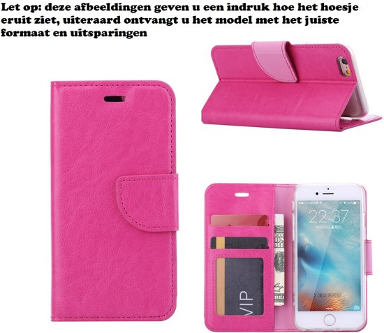 Xssive Hoesje Voor Huawei G8 Boek Hoesje Book Case Pink