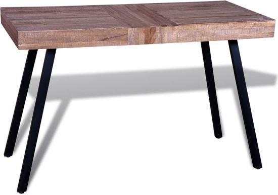Bol.com tafel sideboard sidetable eettafel 119x58x76cm hout bruin