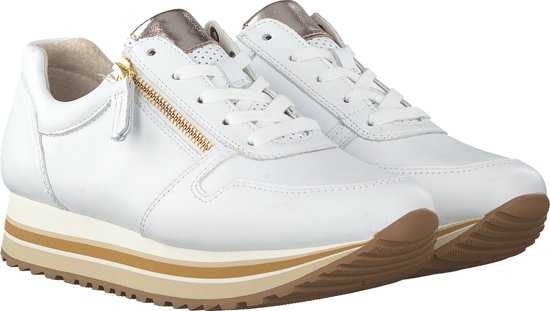 Gabor Dames Lage Sneakers 448 - Wit