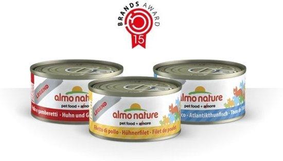 Almo nature blikpakket 4 x 5 x 70 gram kalkoen/kip/konijn/zalm
