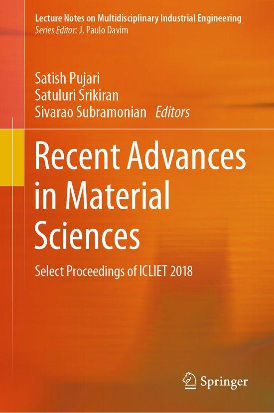 Recent Advances in Material Sciences