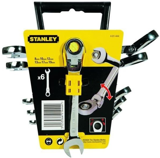 Stanley - Ring/Steeksleutelset Met Verstelbare Ratelring