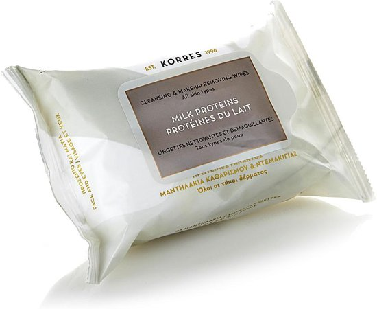 Korres Cleansing & Make-Up Removing Wipes 25 stuk
