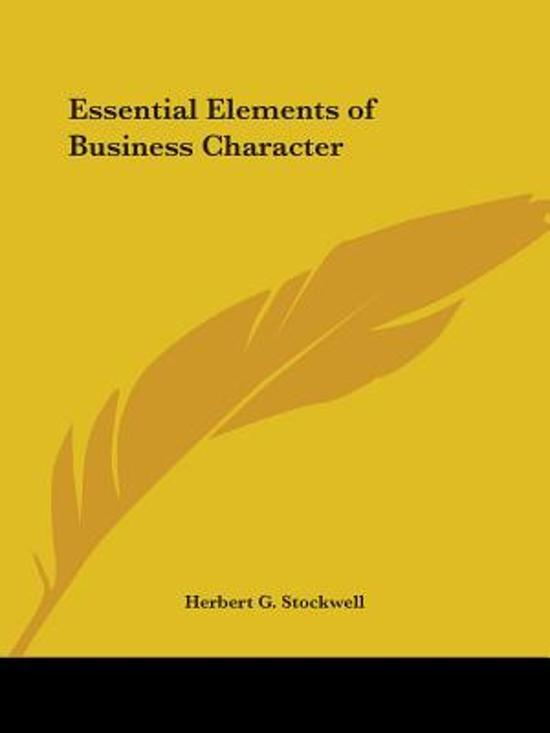 Essential Elements Of Business Character (1911)