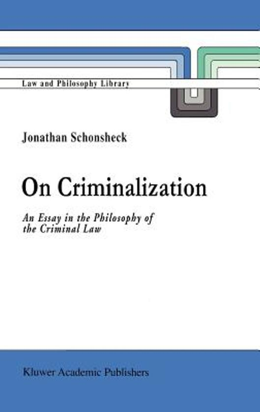 criminalisation of politics essay Free essay: the war on drug: reasons behind the criminalisation of drugs and functions of crime in society the history of the war on drugs in the united.