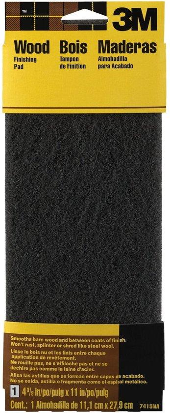 3M™ Scotch-Brite™ Polijstpad voor hout, 7415BG, Grijs, 1 pad