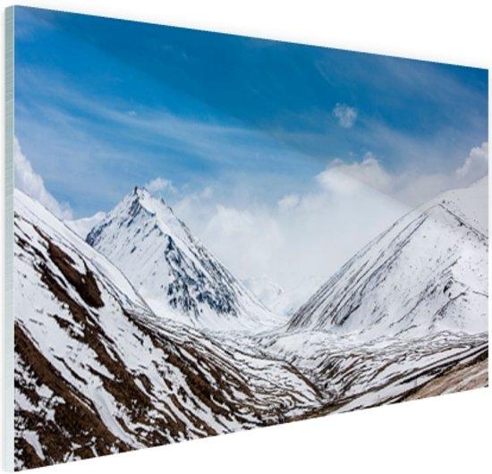 Toppen Himalaya in winter Glas 30x20 cm - Foto print op Glas (Plexiglas wanddecoratie)