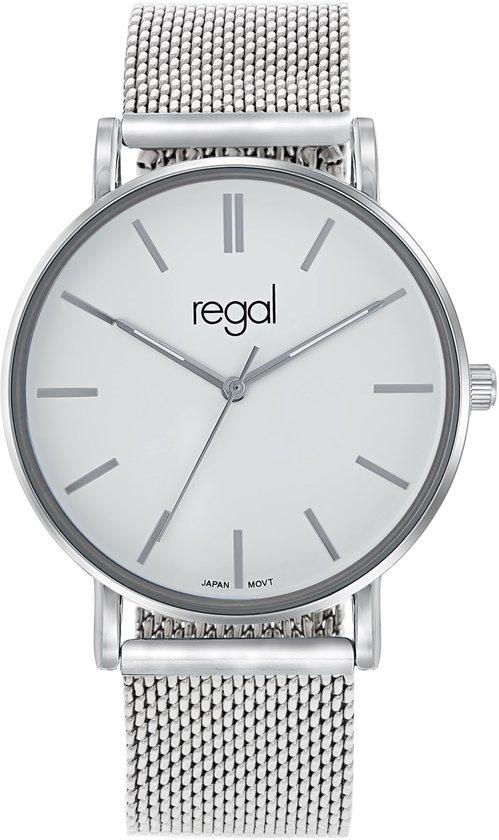 Regal mesh Horloge - Staal - Zilverkleurig - Ø 40 mm