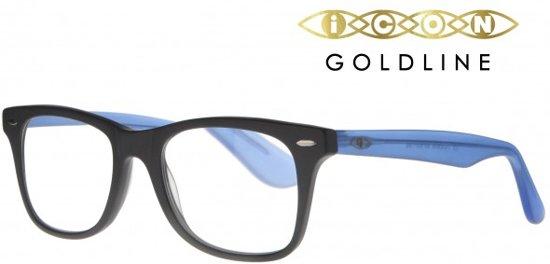 758e981521932c Icon Eyewear TCE806 WayeFarer Goldline Leesbril +2.00 - Zwart montuur
