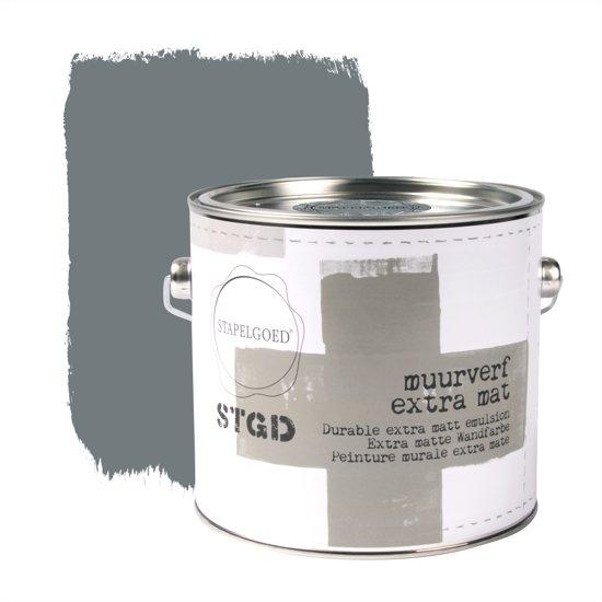 Stapelgoed - Muurverf extra mat - Steelblue - Blauw - 2,5L