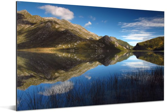 Bergen in het Nationaal park Kahurangi op South-Island Aluminium 120x80 cm - Foto print op Aluminium (metaal wanddecoratie)