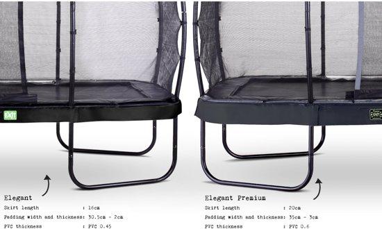 EXIT Elegant Premium trampoline 244x427cm met veiligheidsnet Deluxe - zwart