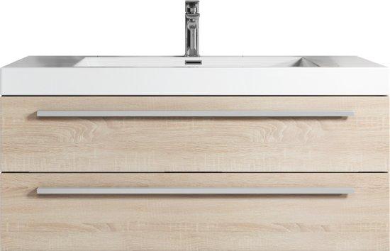 Bol.com badplaats badkamermeubel rome 100cm licht eiken kast met