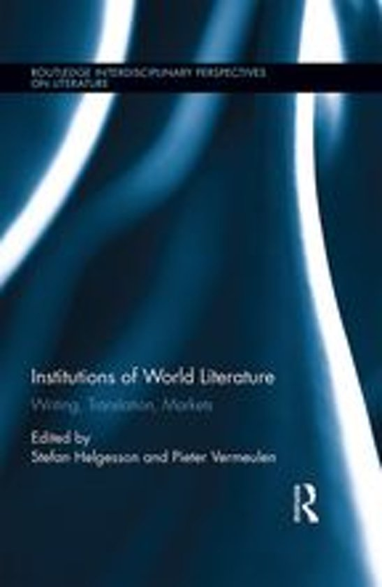 Boek cover Institutions of World Literature van  (Onbekend)