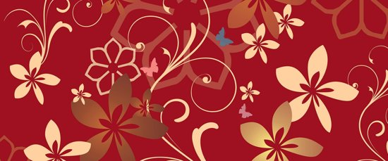 Fotobehang Flowers Abstract | PANORAMIC - 250cm x 104cm | 130g/m2 Vlies