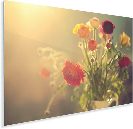 Boeket van kleurrijke boterbloemen Plexiglas 90x60 cm - Foto print op Glas (Plexiglas wanddecoratie)