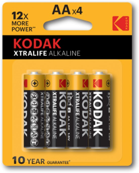 Kodak AA Xtralife 4 x 4 batterijen