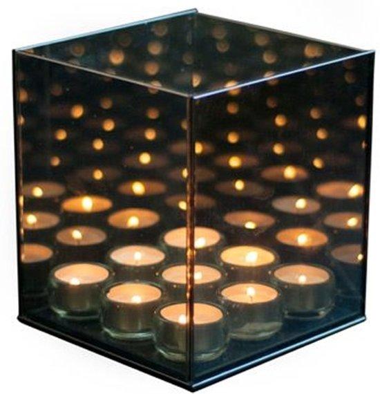 Infinity Light 9 Cube - Waxinelichthouder - Glas