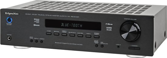 Krüger & Matz KM0508 - Stereo versterker 5.1 - zwart