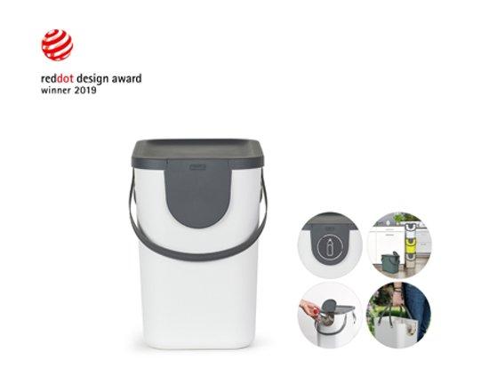 Design Afvalemmer Rotho.Rotho Afvalscheidingsprullenbak Albula 25 Liter Antraciet