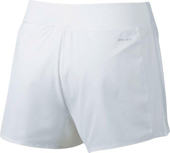 0d66666bfbe bol.com | Nike Court Flex Pure Tennisshort Dames Sportbroek - Maat XL -  Vrouwen - wit/zwart
