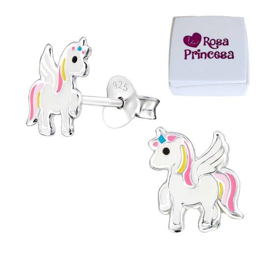 zilveren eenhoorn oorbellen Magic unicorn  oorknopjes paard oorstekers