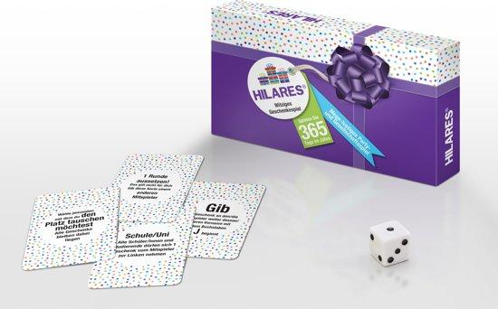 HILARES   Witziges Geschenkespiel (DEUTSCH) sinterklaas - kerst - oud en nieuw - feestje - pakjes - surprise - dobbelspel - kaartspel – familiespel