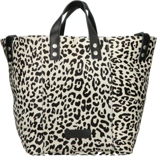 810ddfe4d9e bol.com   Shabbies Amsterdam shopper medium leopard pony - Off White