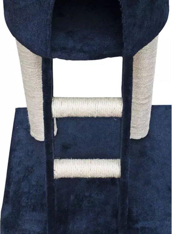 Krabpaal Saartje 230/260 cm 1 huisje (donkerblauw)