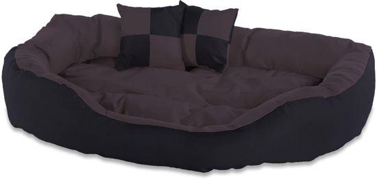 Meisterpet hondenbed - zwart/bruin - L (65x50x20) W03