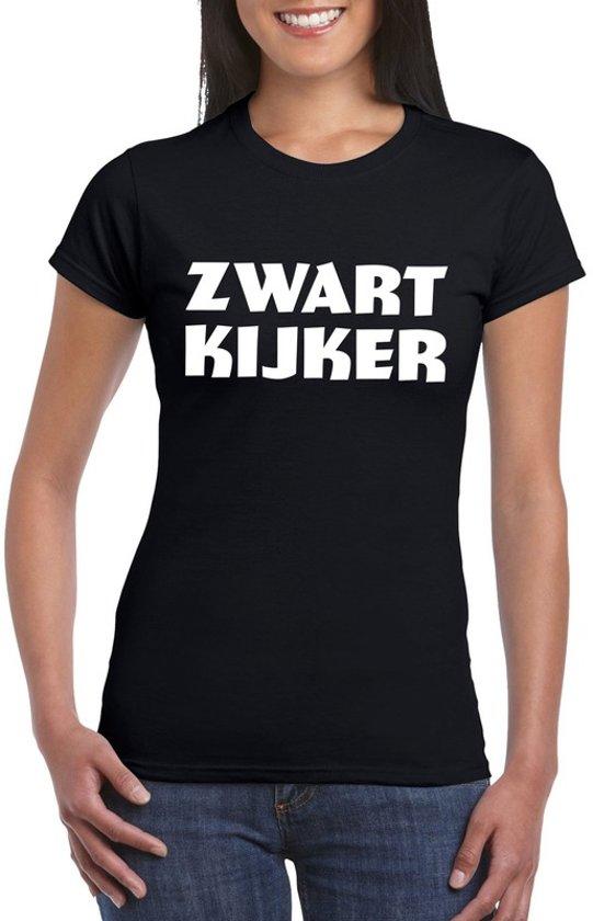 Zwartkijker dames T-shirt zwart XL