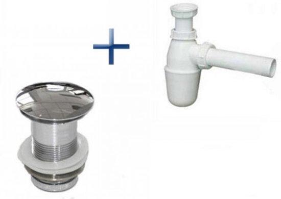 Wastafel Sifon Monteren : Bol sifon kunststof wit inc design afvoerplug chroom mm