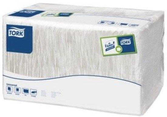 Tork tissue servet 33x33cm 1-laags 1/8-vouw wit 9x500