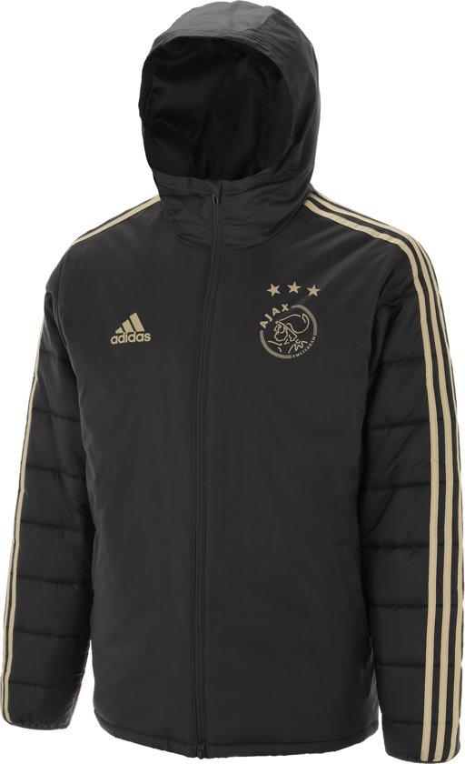 Winterjas 2019.Bol Com Adidas Ajax Winterjas Uit 2018 2019 Zwart Beige Maat Xs