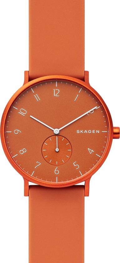 Skagen Aaren Kulor Horloge 41mm  - Oranje