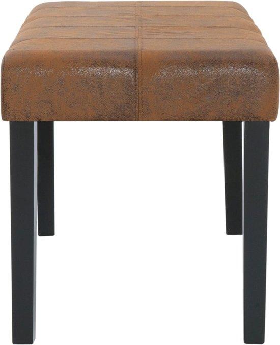 vidaXL Bankje 106 cm kunstsuède bruin