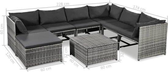 Lounge Bank Eettafel.Tuin Loungeset Incl Deken Grijs 24 Delig Rattan Met Tafel Lounge Set Tuin Relax Bank Lounge Bank Tuin Tuinbank Loungebank Tuinset