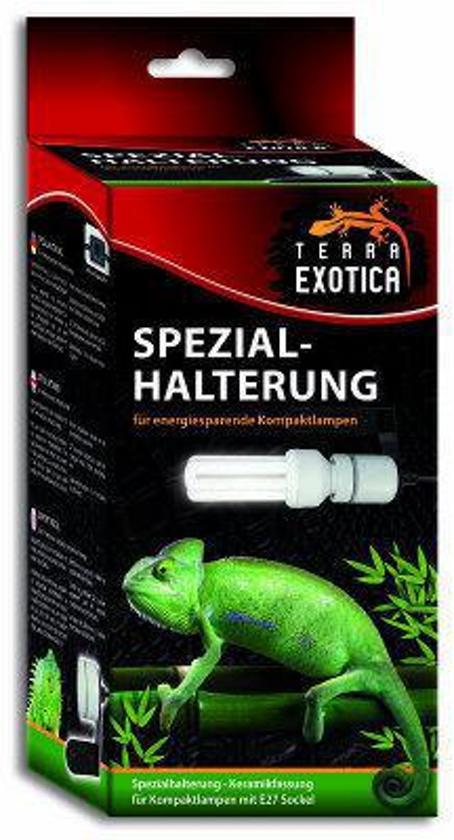 Terra Exotica Terrariumverlichting - Lampenhouder - voor compact UVB lampen