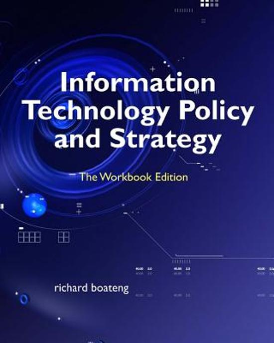 Information Technology Policy and Strategy