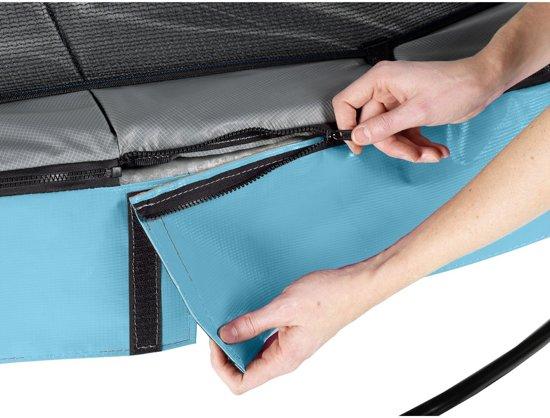 EXIT Elegant Premium trampoline ø253cm met veiligheidsnet Deluxe - blauw